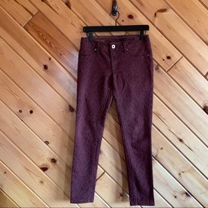 DL1961 Cheetah Printed Skinny Emma Jeans 27 Ankle